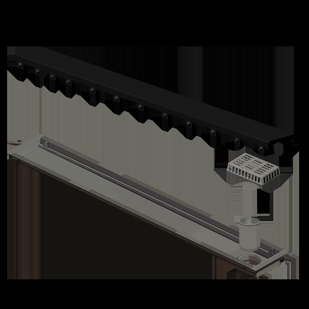 Ralo Linear Inox 75 cm Black Matte Versatile