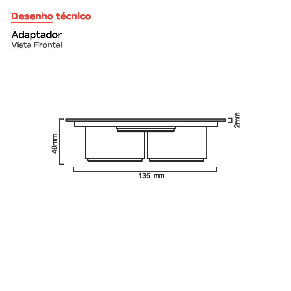 Grelha Quadrada Inox Polido 15 cm x 15 cm