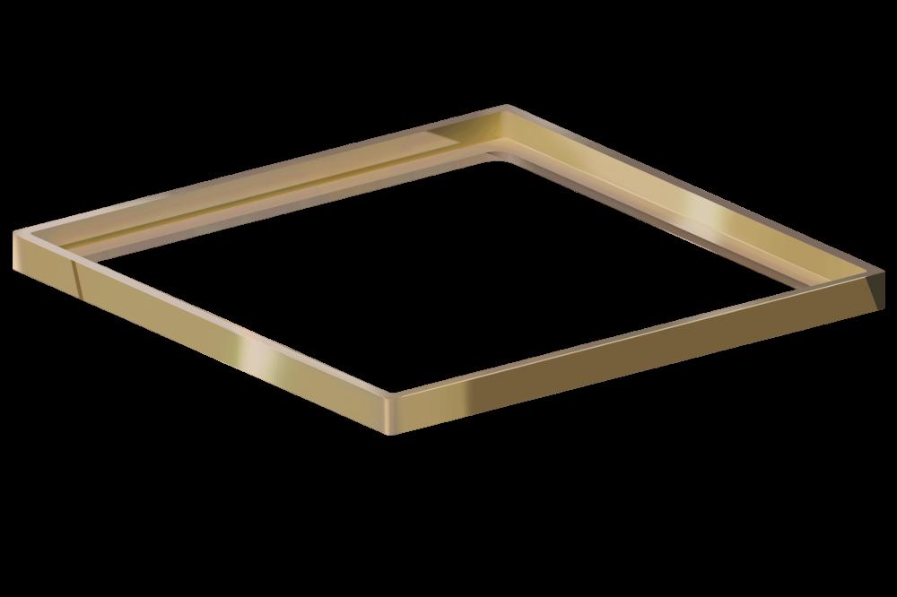 Porta Grelha Quadrada Gold 10 cm x 10 cm