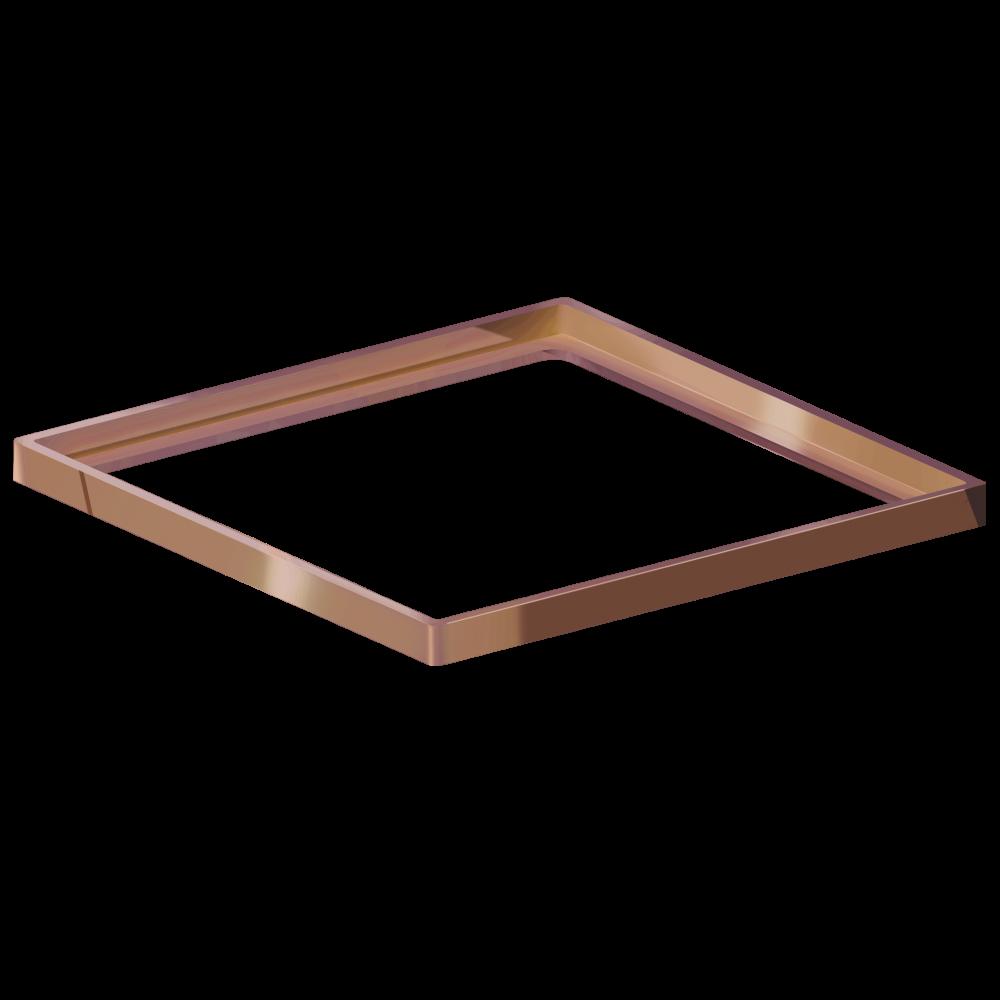 Porta Grelha Quadrado 10 cm x 10 cm Red Gold