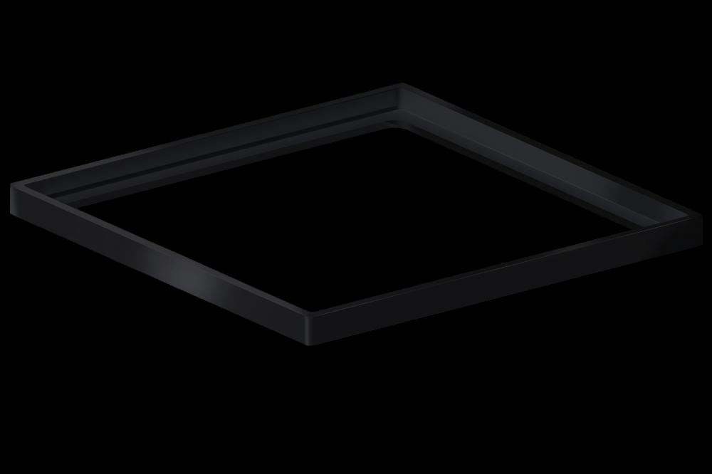 Porta Grelha Quadrado  15 cm x 15 cm Black Matte