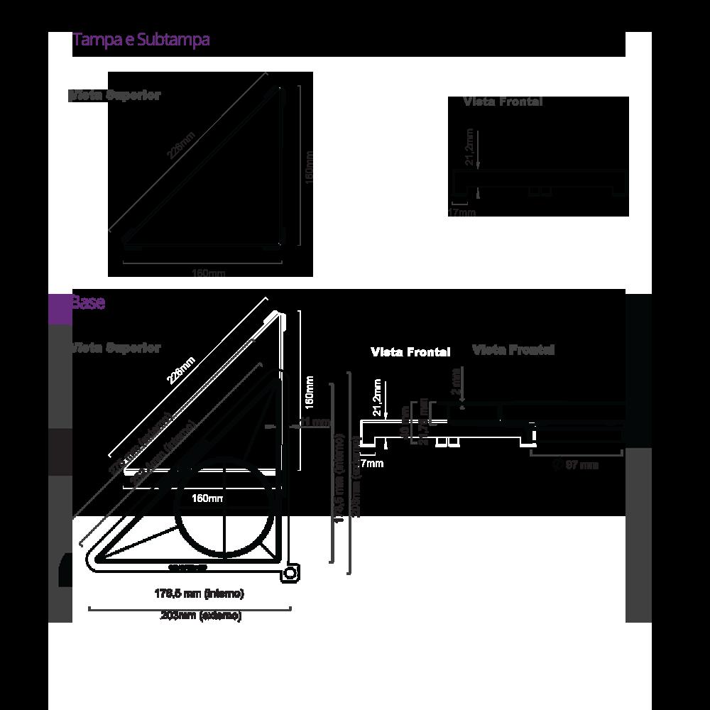 Vertex Black Matte Triangular