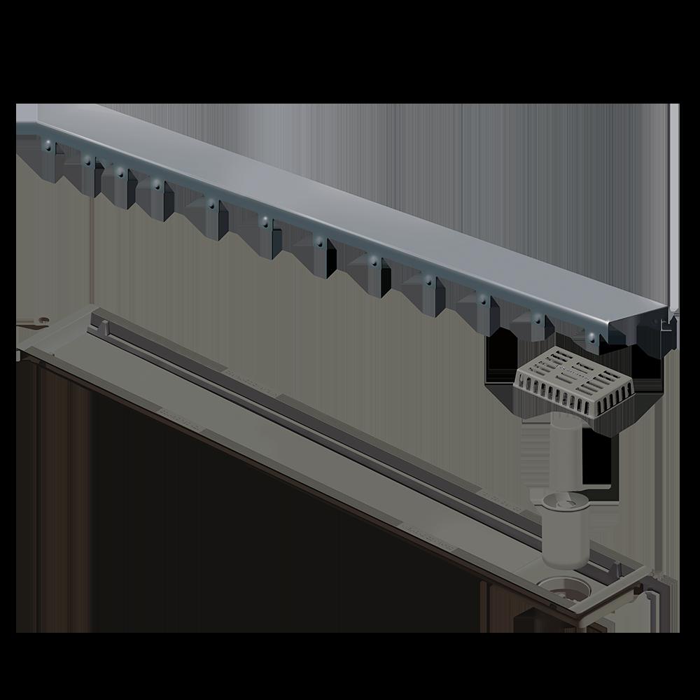 Ralo Linear Inox 75 cm  Inox Escovado Versatile