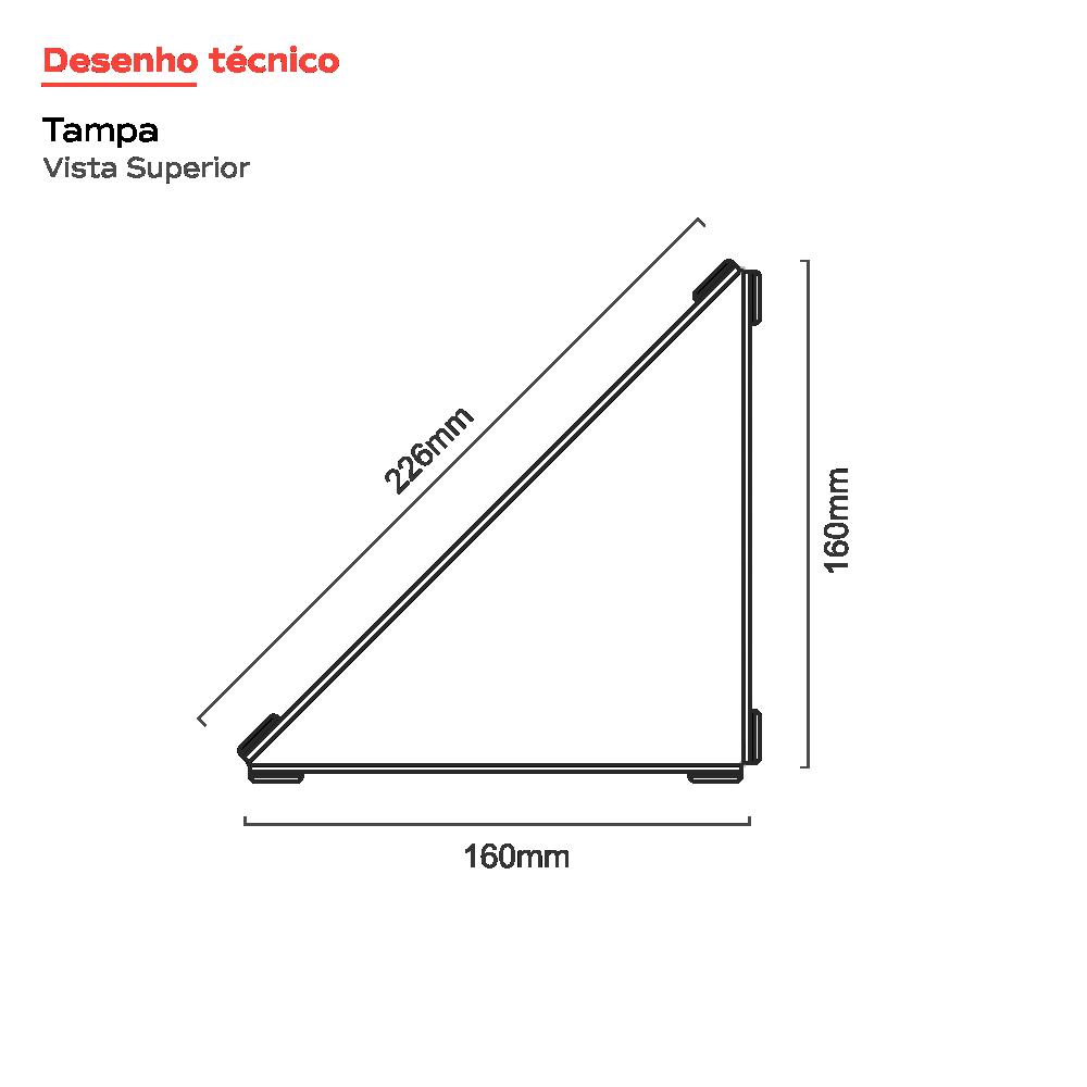 Vertex Rosé Gold Triangular