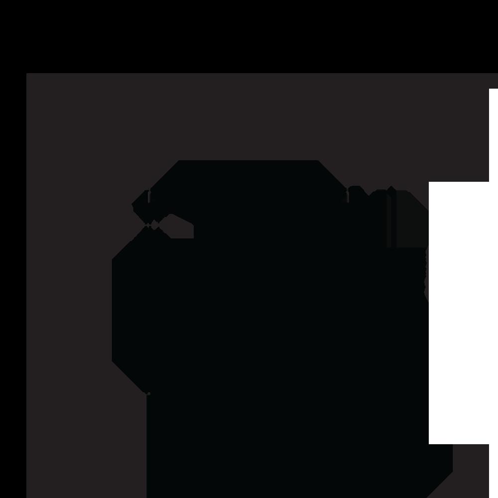 Porta Grelha Quadrado 15 cm x 15 cm Grafite