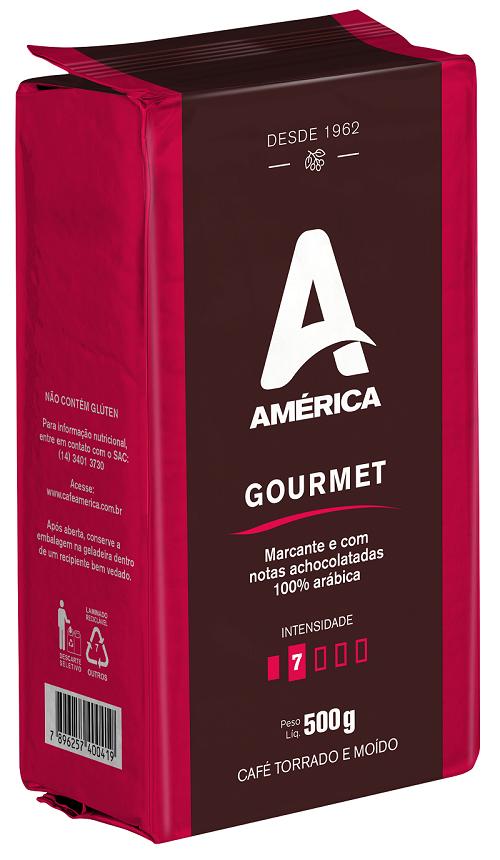 Café Torrado E Moído Vácuo América Gourmet 500g