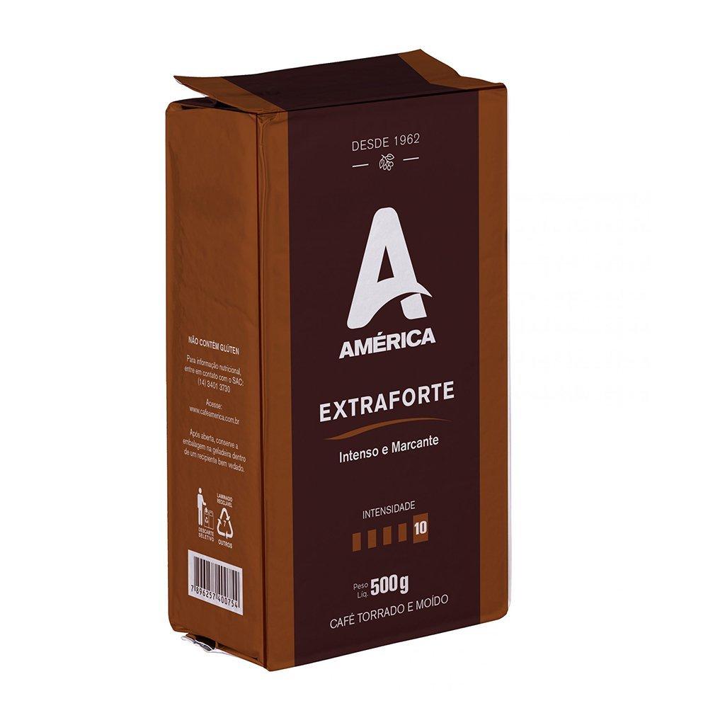 Café Torrado E Moído Vácuo América Extraforte 500g