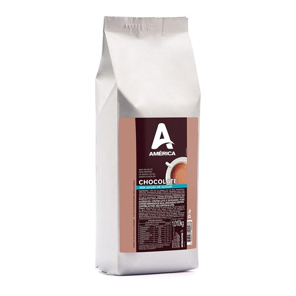 CHOCOLATE SEM ADIÇÃO DE ACÚCAR AMÉRICA 1,010KG