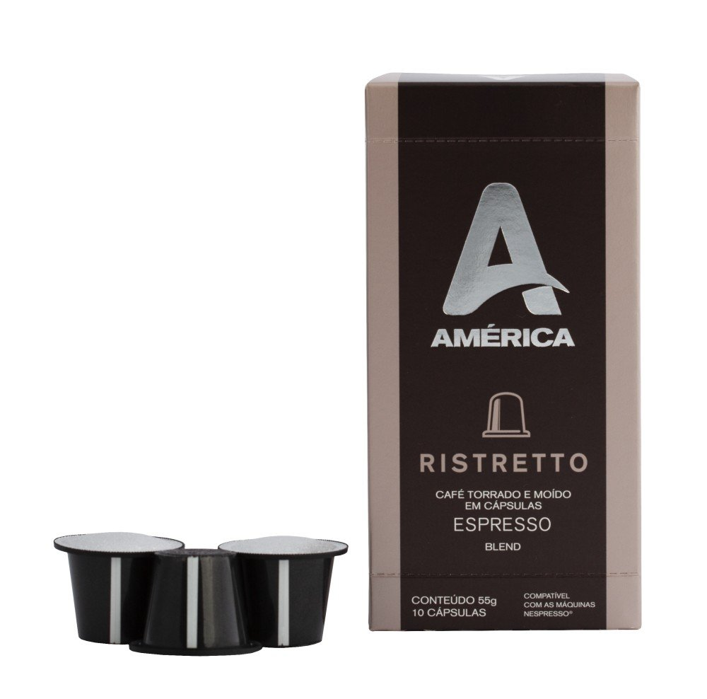 CAIXA COM 10 CÁPSULAS DE CAFÉ AMÉRICA RISTRETTO