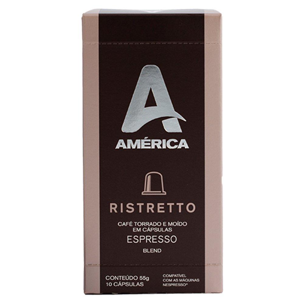 KIT 100 CÁPSULAS DE CAFÉ AMÉRICA RISTRETTO