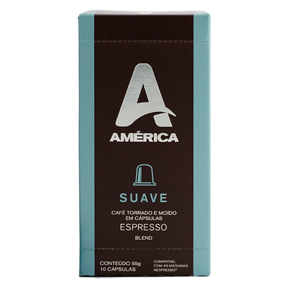 CAIXA COM 10 CÁPSULAS DE CAFÉ AMÉRICA SUAVE