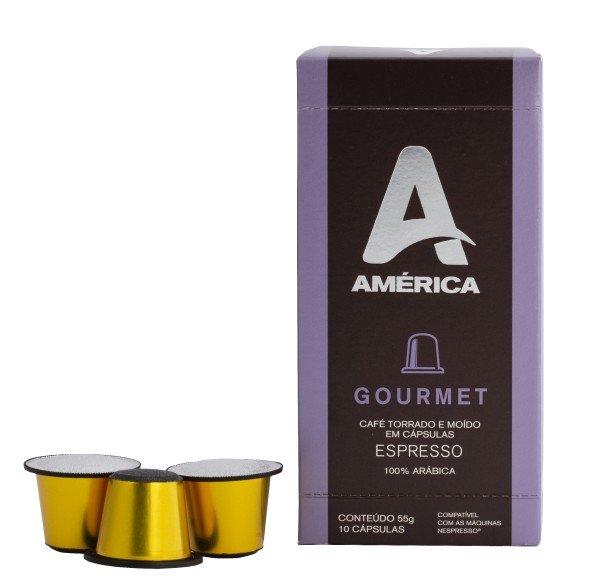 CAIXA COM 10 CÁPSULAS DE CAFÉ AMÉRICA GOURMET