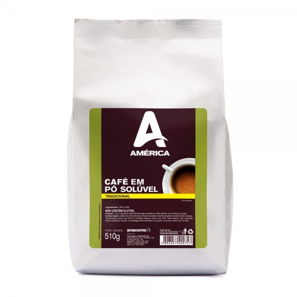 CAFÉ SOLÚVEL EM PÓ AMÉRICA 510G