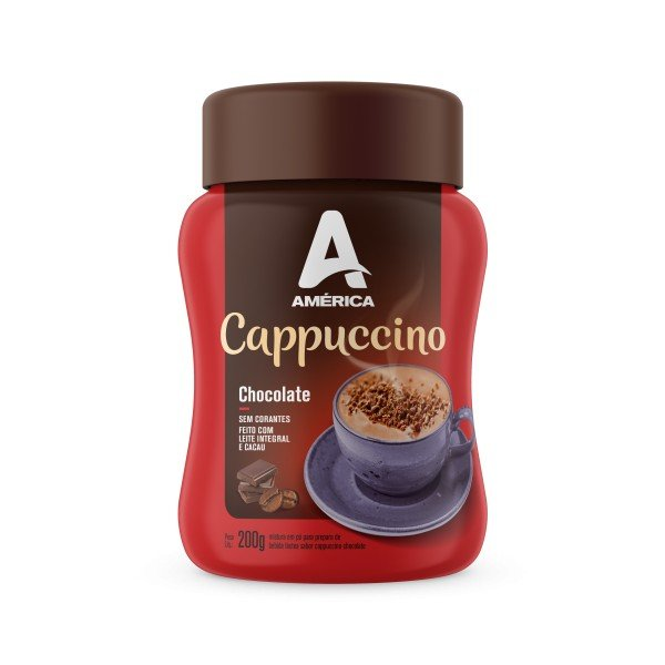 CAPPUCCINO AMÉRICA CHOCOLATE POTE 200G