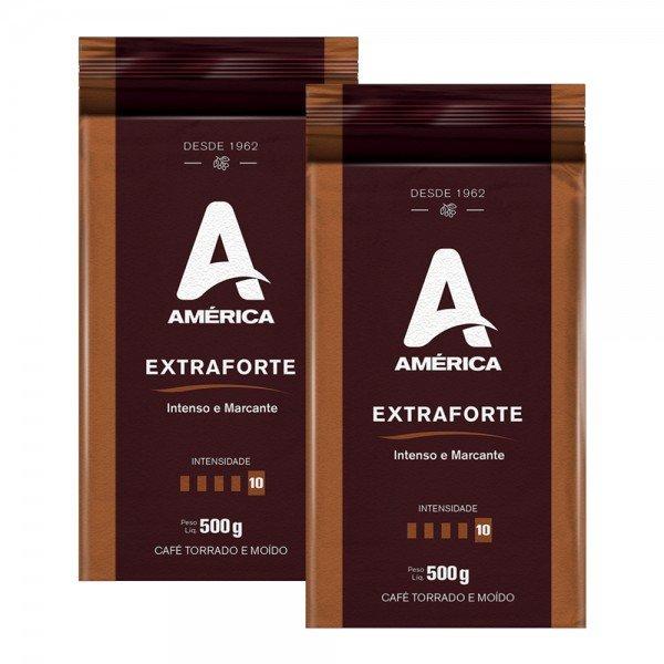 Kit 1kg Café Torrado E Moído Vácuo América Extraforte