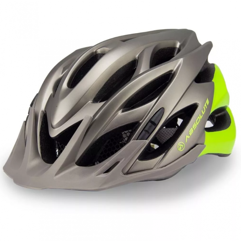 Capacete Absolute Wild com Led - Cinza/Verde