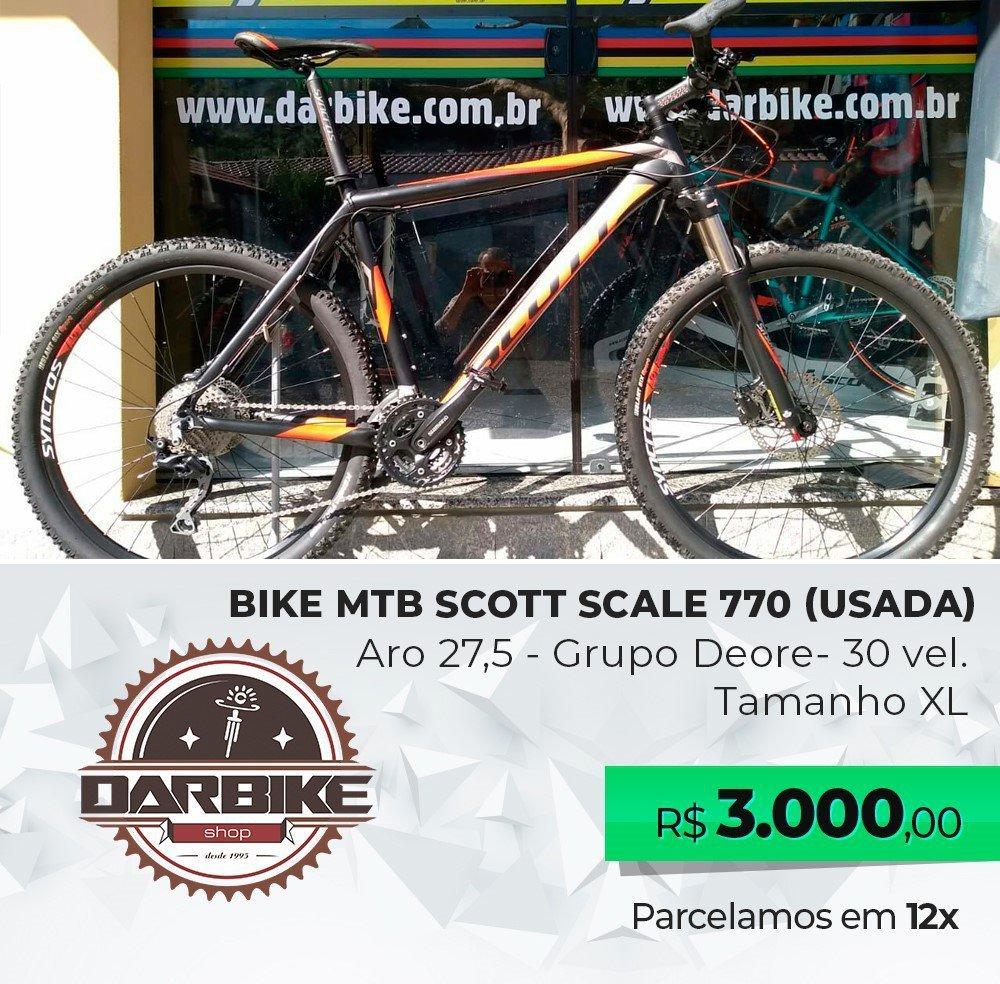 Bicicleta Scott Scale 770 Aro 27,5 30vel - Semi Nova