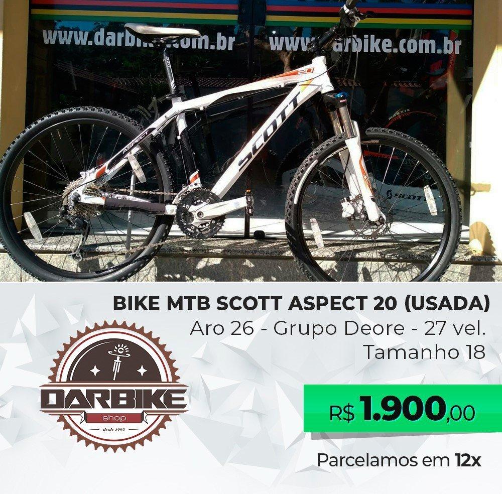 Bicicleta Scott Aspect 20 Aro 26 27vel - Usada