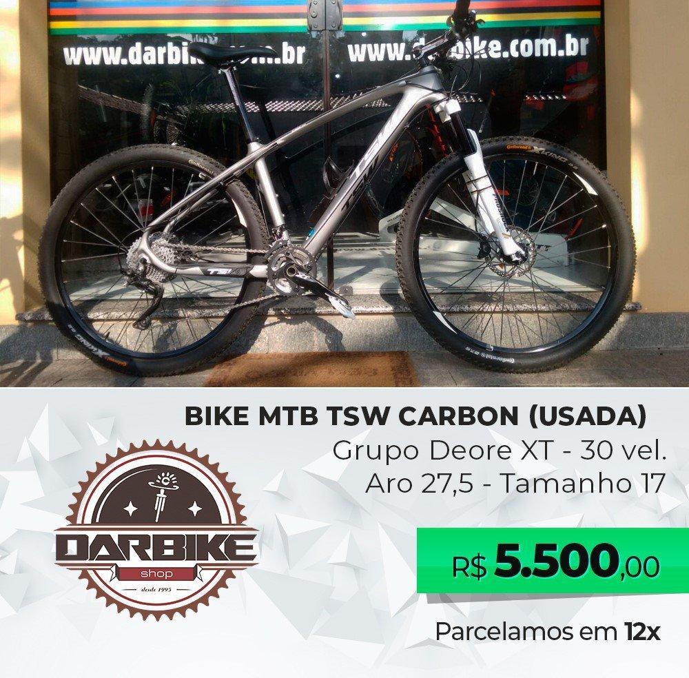 Bicicleta TSW Carbon Aro 27.5 30vel - Semi Nova