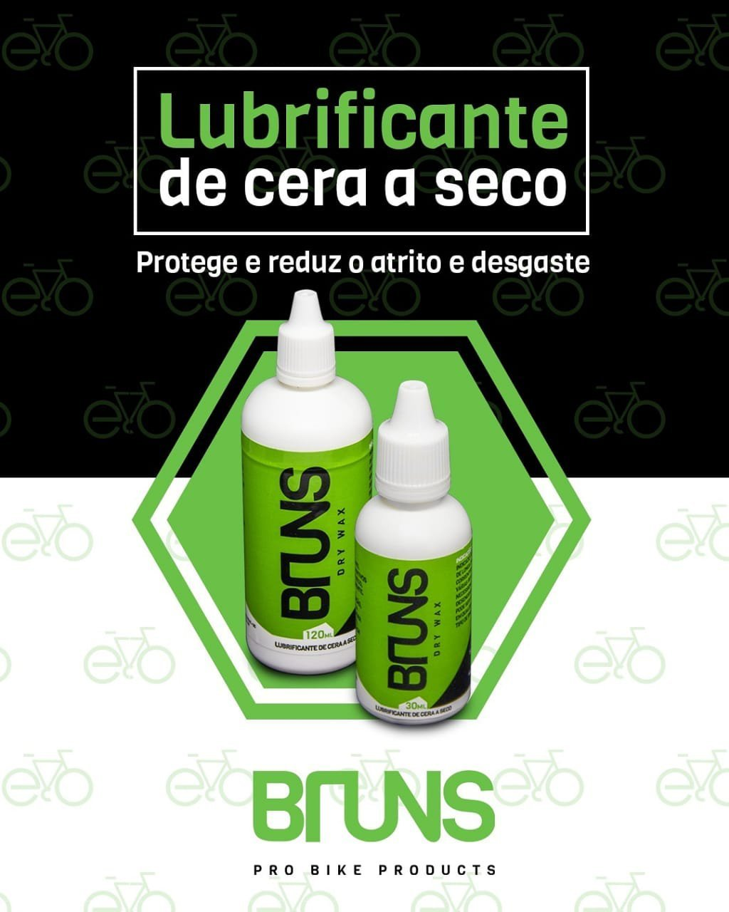 Lubrificante Bruns Dry Wax Cera 120ml