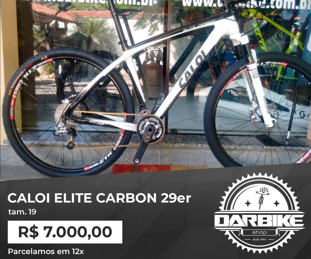 Bicicleta Caloi Elite Carbon 20vel - Sram XO - Semi Nova