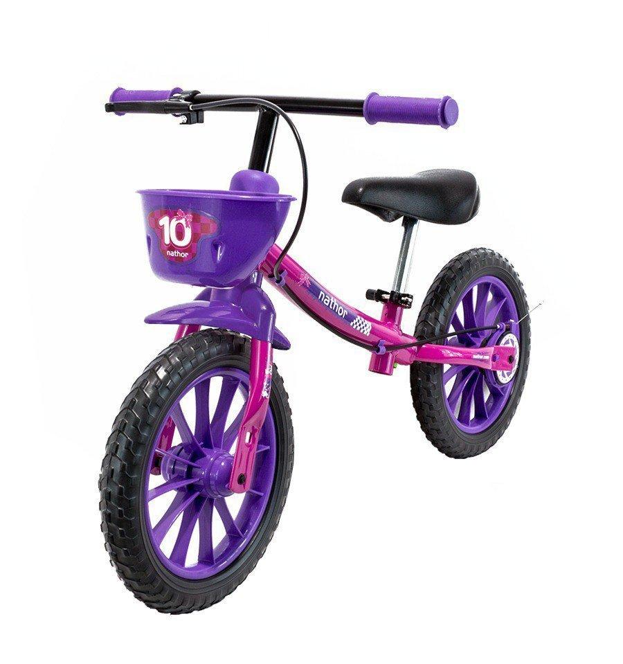 Bicicleta Infantil de Equilibrio Nathor Rosa