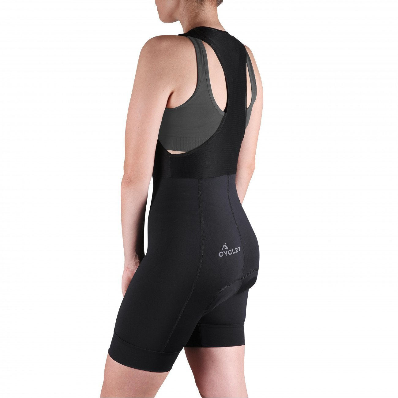 Bretelle Cycle7 Feminino Endurance Carbon com Forro MPro Gel