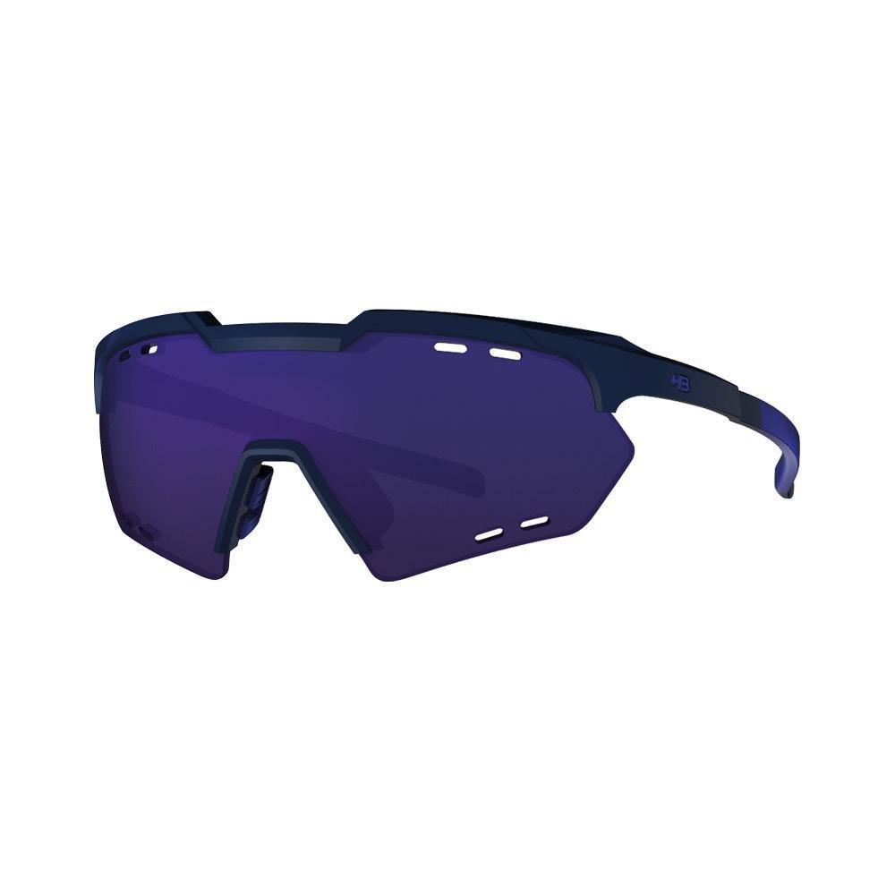 Óculos Hb Shield Compact Mountain Matte Black D. Blue/ Multi Purple