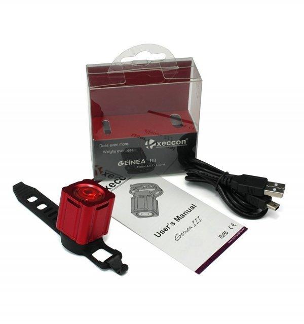 Pisca Traseiro Q-Lite XEccon Geinea III - Recarregável USB