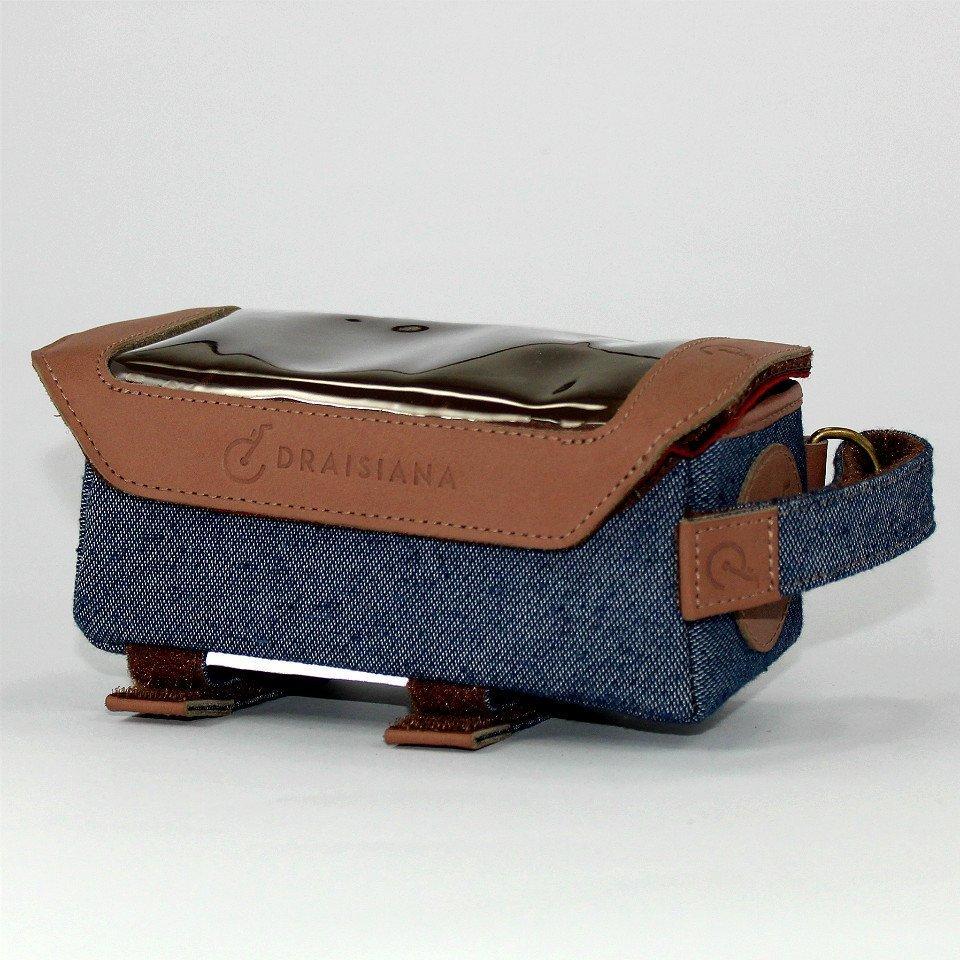 Bolsa de Quadro e Porta Celular Draisiana Jeans