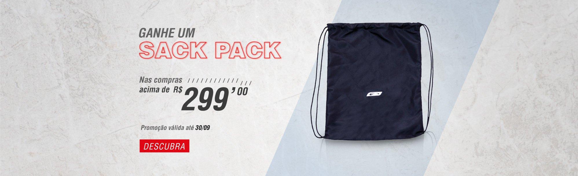 Promoção Sack pack