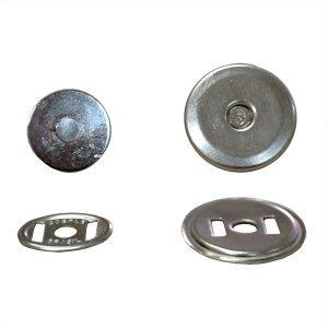 Botão Magnético  Chato 19 mm Niquelado (peça)