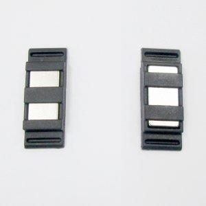 Botão Magnetico Retangular 13x34mm Preto